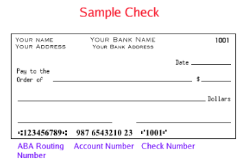 image of sample check